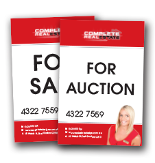 For sale signage - 2 versions