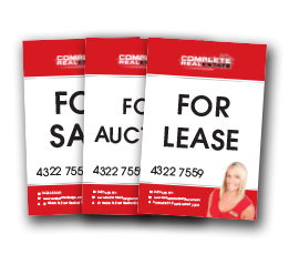 For sale signage - 3 versions